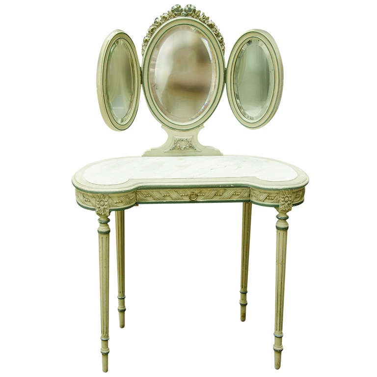 coiffeuse or louis xvi style dressing table at 1stdibs. Black Bedroom Furniture Sets. Home Design Ideas