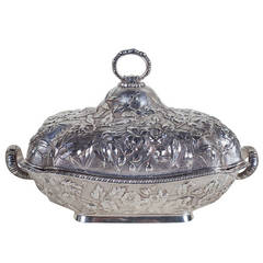 Theodore B. Starr Covered Sterling Silver Vegetable Server
