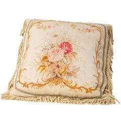 Napoleon III Aubusson Tapestry Cushion