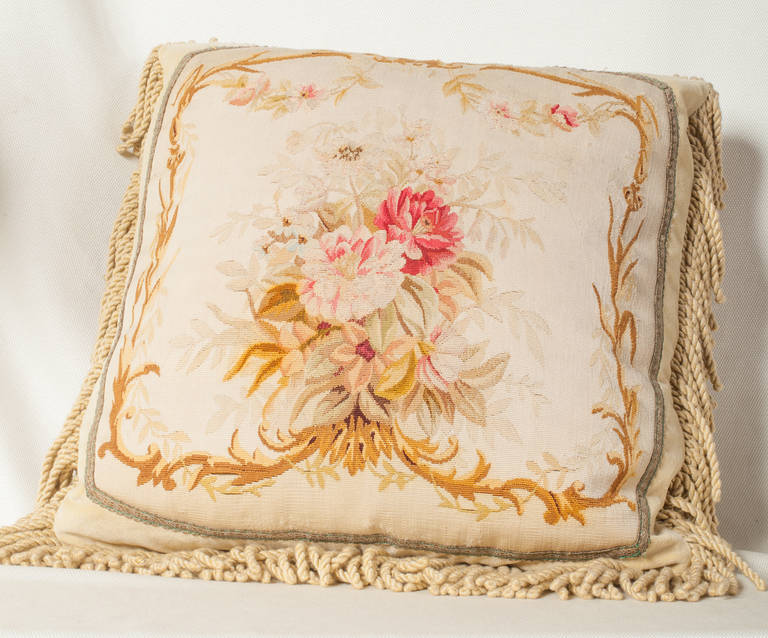 napoleon iii aubusson tapestry cushion at 1stdibs. Black Bedroom Furniture Sets. Home Design Ideas