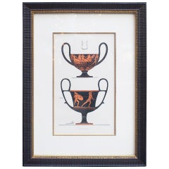 Lithograph of Ancient Greek Wine Cups