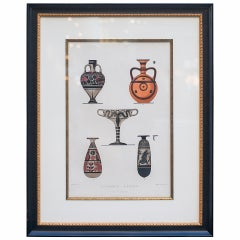 Custom Framed Print of Ancient Greek Bottle Forms by A. Genick