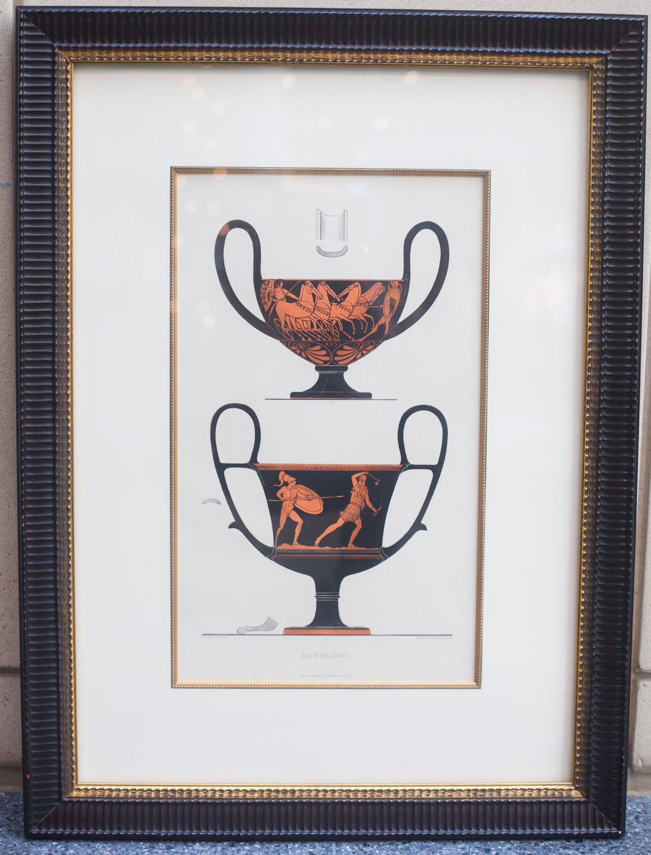 Lithograph of Ancient Greek Wine Cups For Sale at 1stdibs