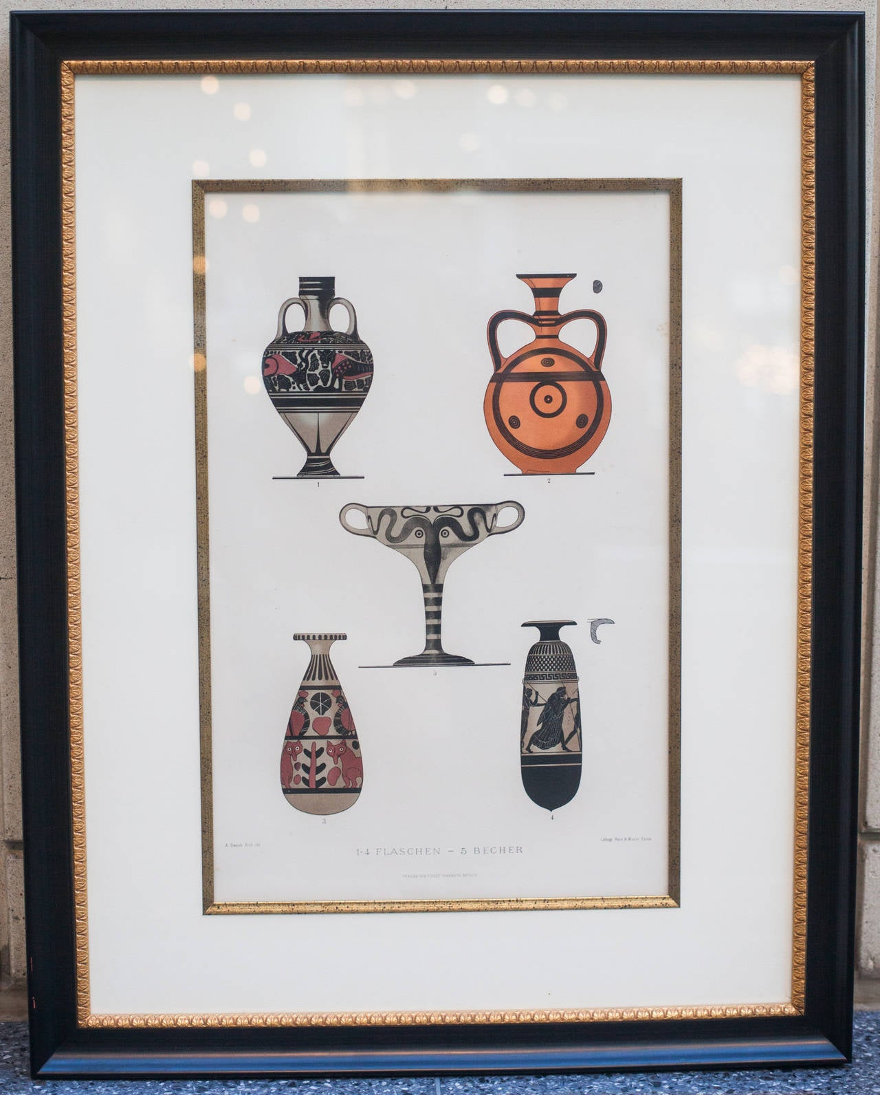 Lithograph of Ancient Greek Bottle Forms For Sale at 1stdibs