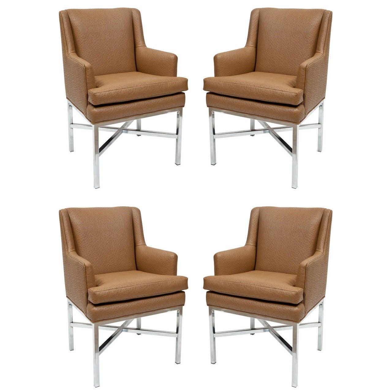 Set of Four Milo Baughman Armchairs
