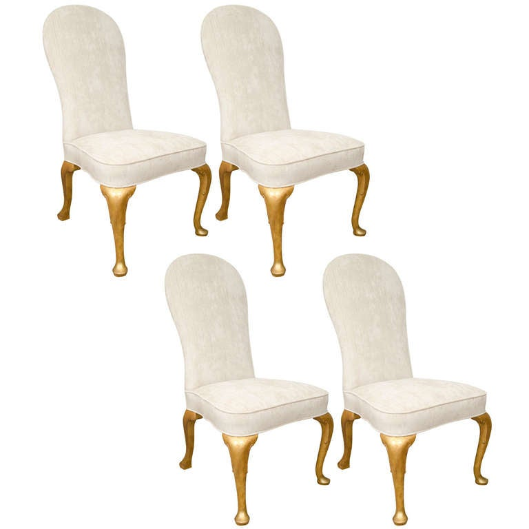 set of four queen anne style dining chairs at 1stdibs