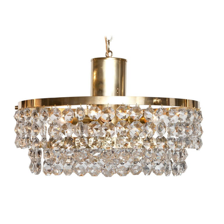 Crystal beaded chandelier for sale at 1stdibs - Chandelier glass beads ...