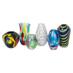 Series of Murano Glass Vases