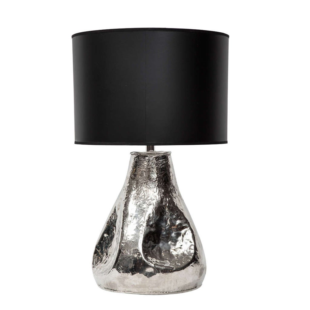 hammered metal lamp at 1stdibs. Black Bedroom Furniture Sets. Home Design Ideas