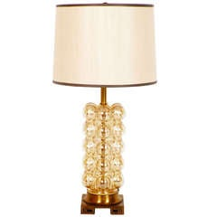 Golden Bubble Glass Lamp