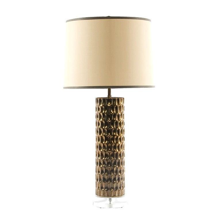 Honeycomb Cylinder Lamp At 1stdibs