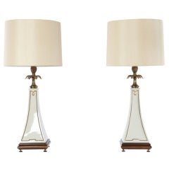 Pair of Flared Obelisk Lamps