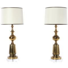 Pair of Brass Lamps by Stiffel