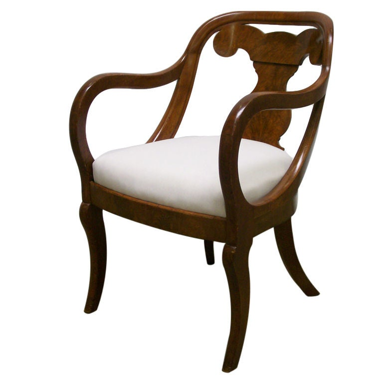 American Empire Armchair At 1stdibs