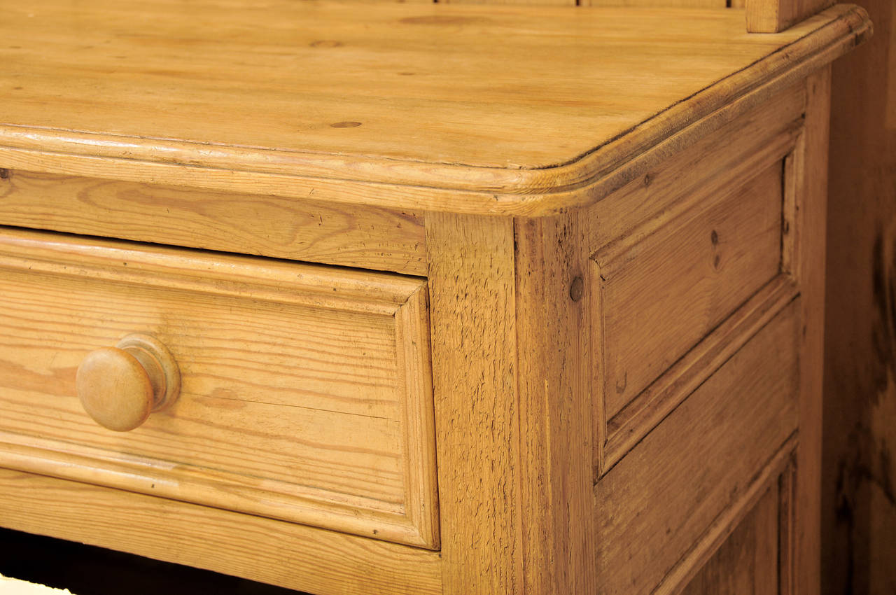 English Country Pine Cupboard For Sale