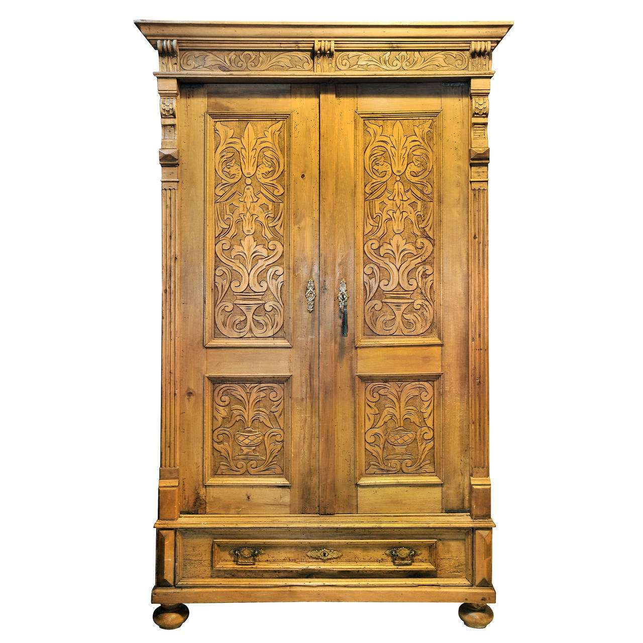 large antique pine armoire at 1stdibs. Black Bedroom Furniture Sets. Home Design Ideas
