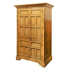 Irish Pine Four-Door Housekeeping Cupboard