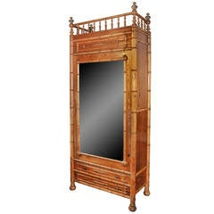 Faux Bamboo French Armoire
