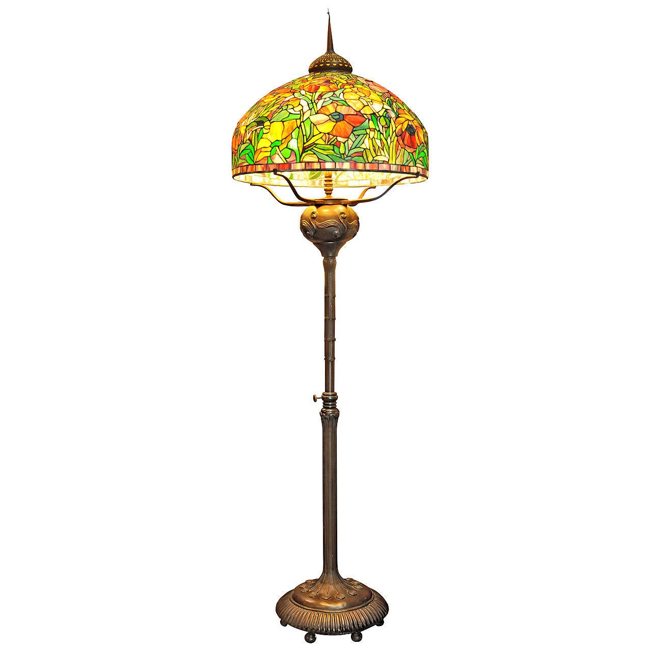stained glass floor lamp for sale at 1stdibs. Black Bedroom Furniture Sets. Home Design Ideas