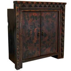 Antique Tibetan  Cabinet