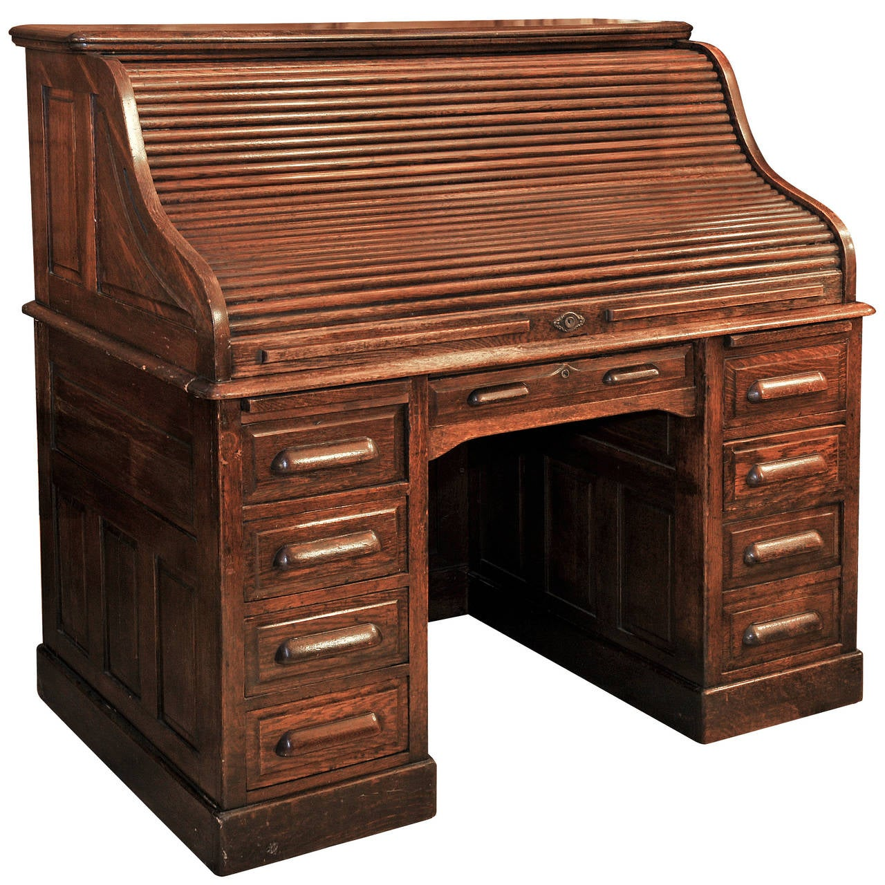 Oak Roll Top Desk at 1stdibs