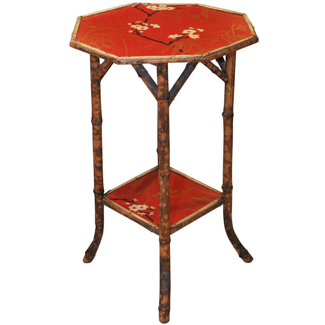 Antique bamboo side table at 1stdibs for Bamboo side table
