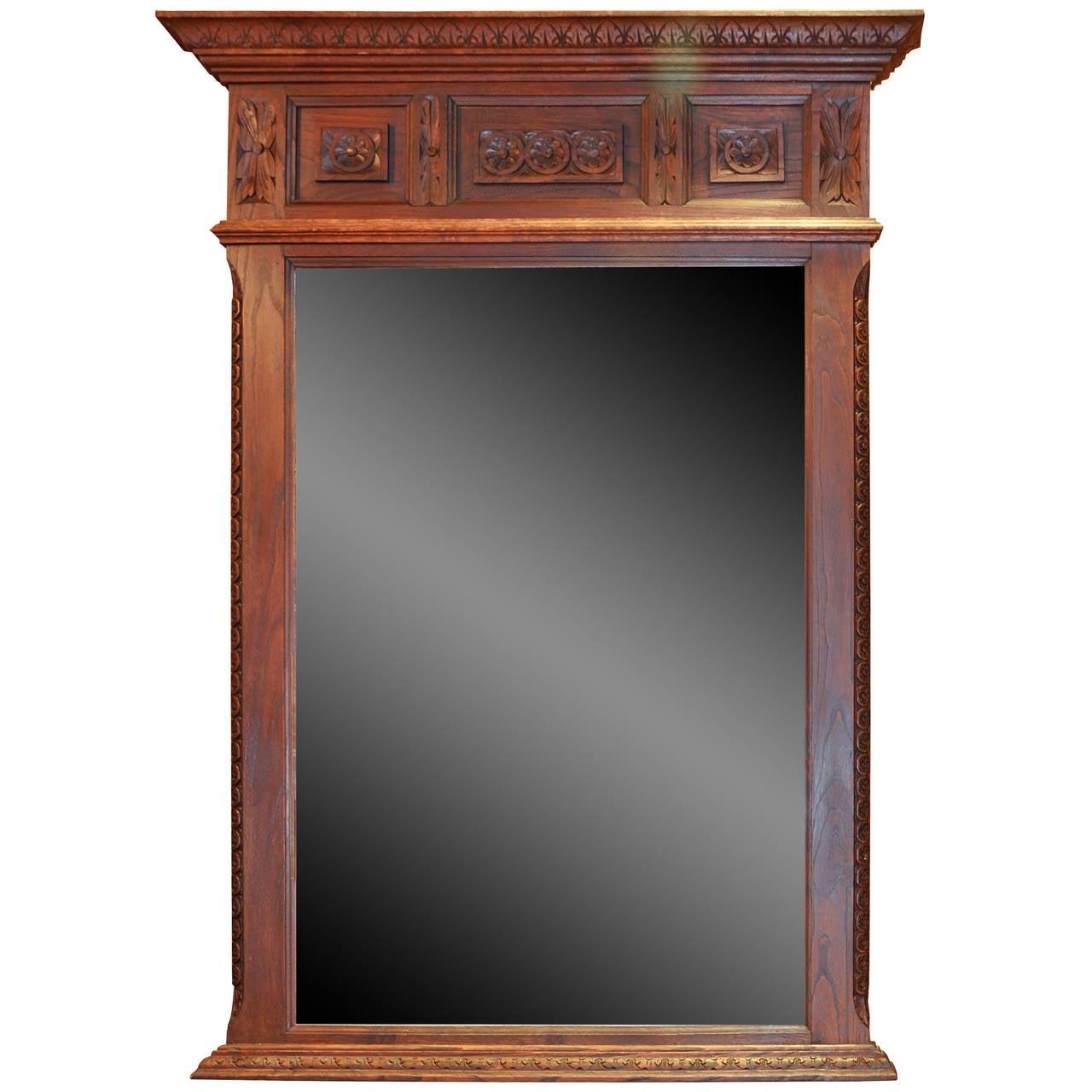 Oak Carved Mirror