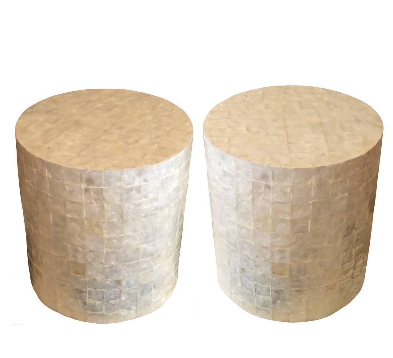 Capiz Shell Drum Table 3