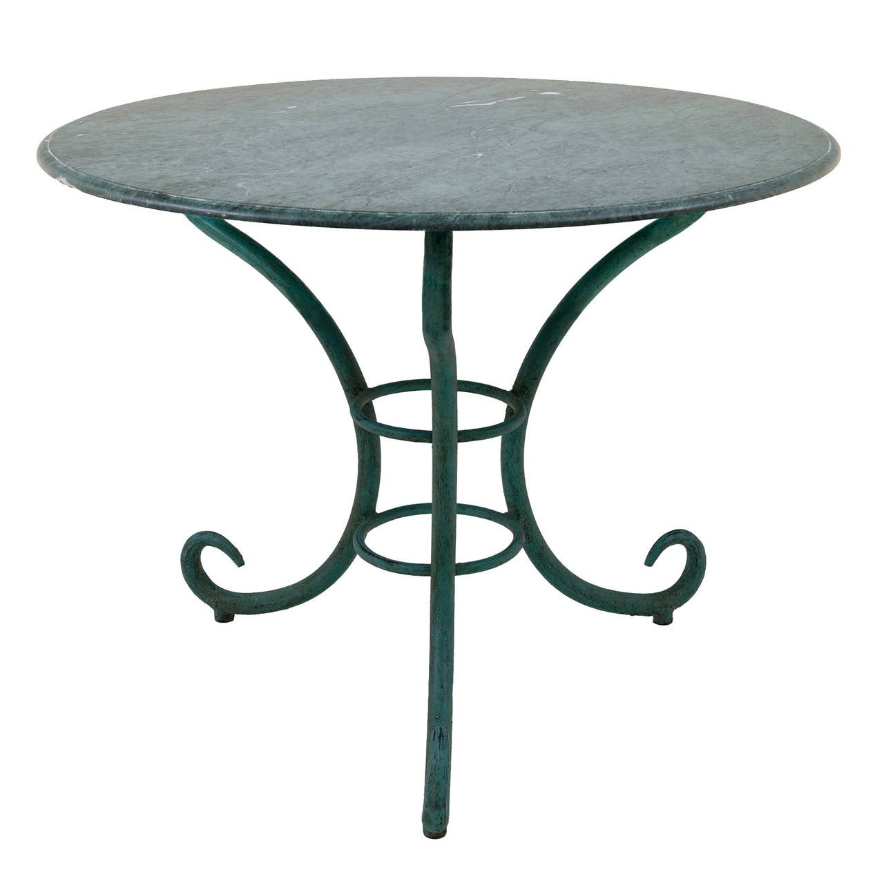 French Serpentine Garden Table At 1stdibs