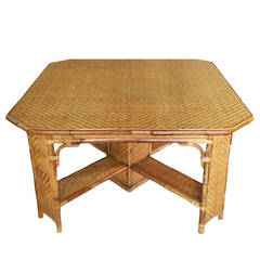 19th Century Bamboo Table