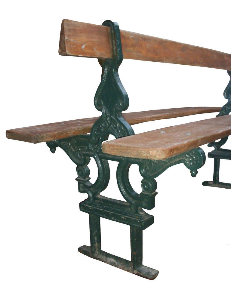 Pair Of French Double Sided Garden Benches For Sale At 1stdibs