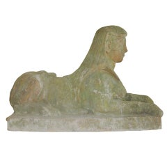 Pair of 19th Century Sphinx