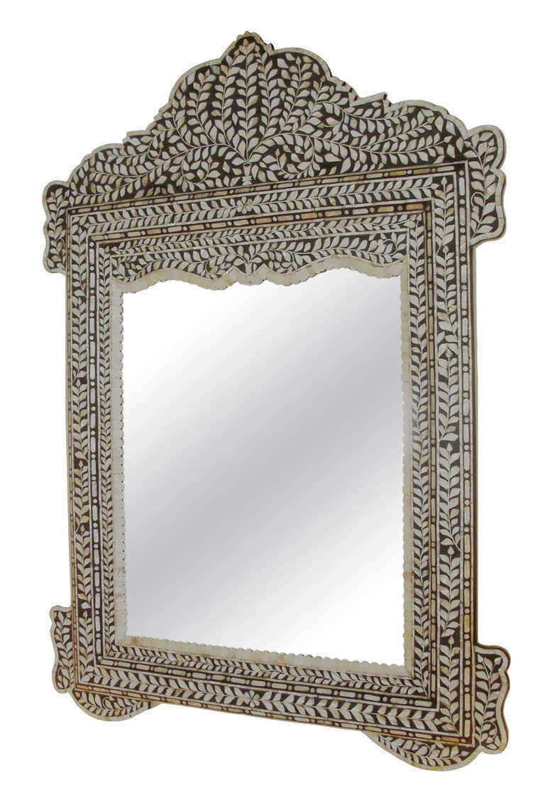 Mother Of Pearl Inlay Mirror At 1stdibs