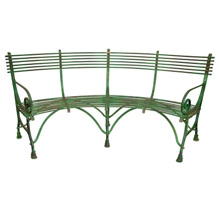 Good Curved Metal Garden Bench Part - 9: Curved French Garden Bench 3