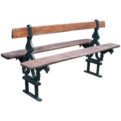 Pair of French Double-Sided Garden Benches