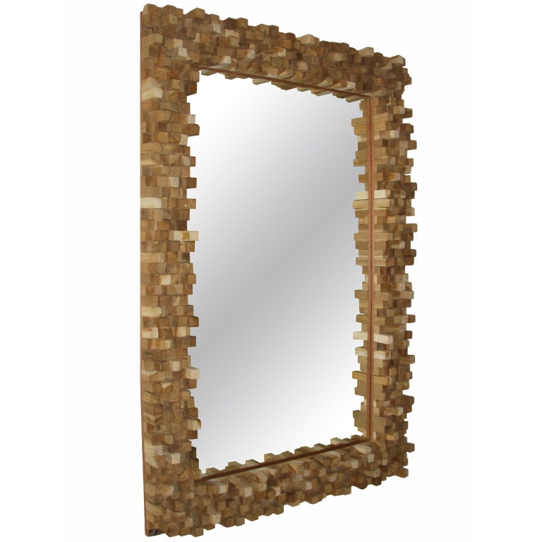 20th Century Teak Twig Mirror At 1stdibs