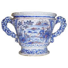 Blue and White Never Urn