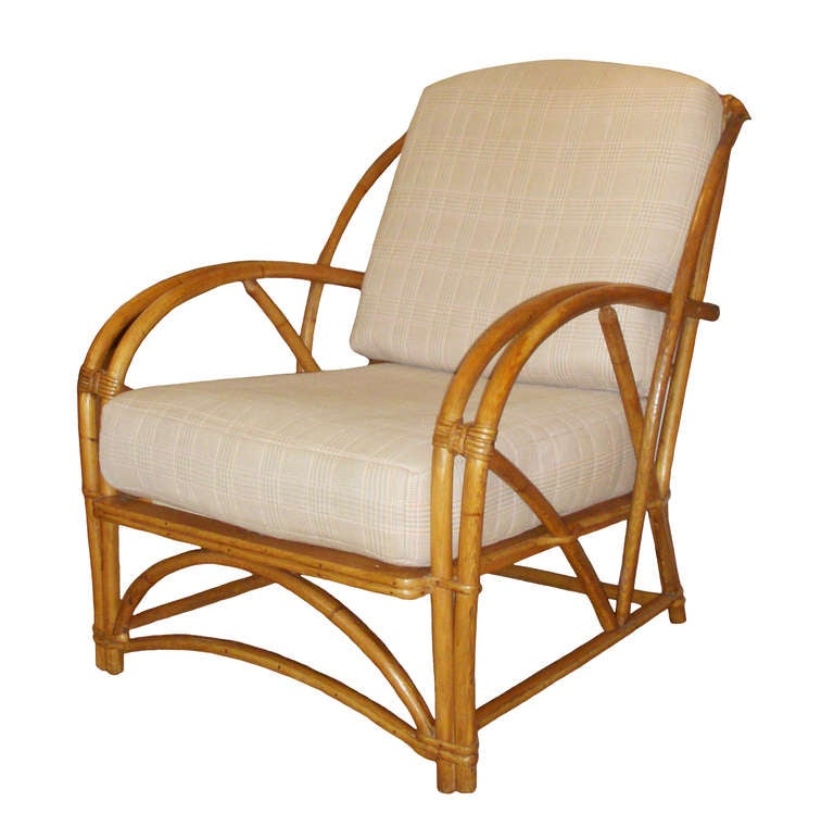 1930s American Bamboo Arm Chair at 1stdibs