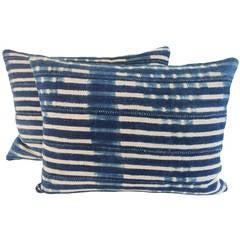 Pair of Striped Batik Pillows
