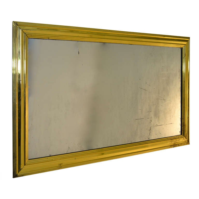 Brass French Bistro Mirror At 1stdibs
