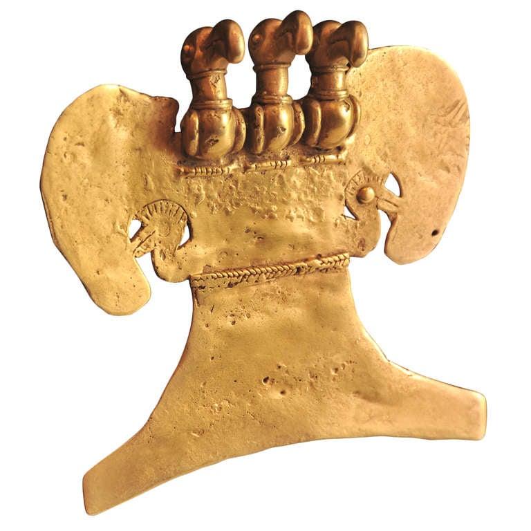 Pre Columbian Gold Avian Pendant
