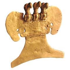 Pre-Columbian Gold Avian Pendant