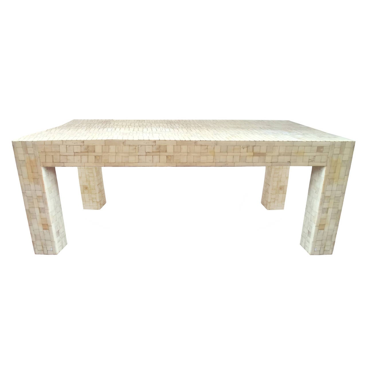Jansen Bone Inlay Coffee Table At 1stdibs