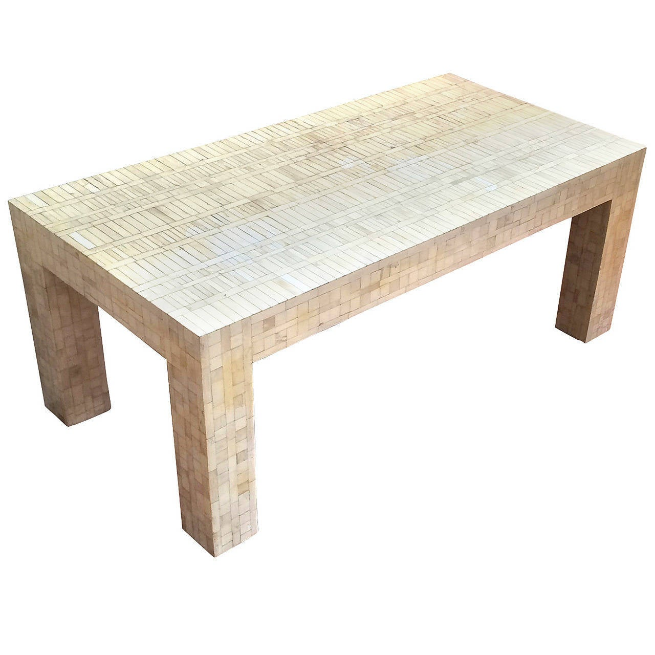 jansen bone inlay coffee table at 1stdibs. Black Bedroom Furniture Sets. Home Design Ideas