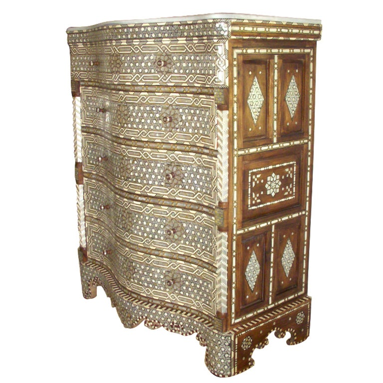 1930 S Syrian Inlay Chest At 1stdibs