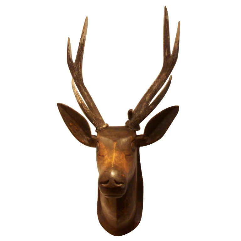 19th Century French Deer Head