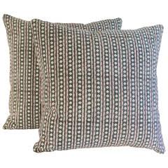 Pair of Vintage Indian Kantha Pillows