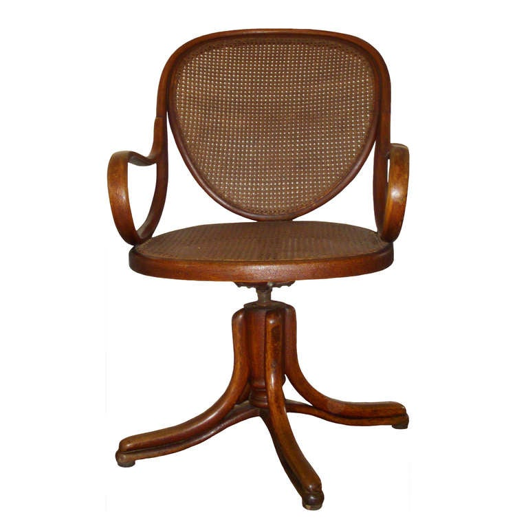 Thonet bentwood swivel arm chair at 1stdibs