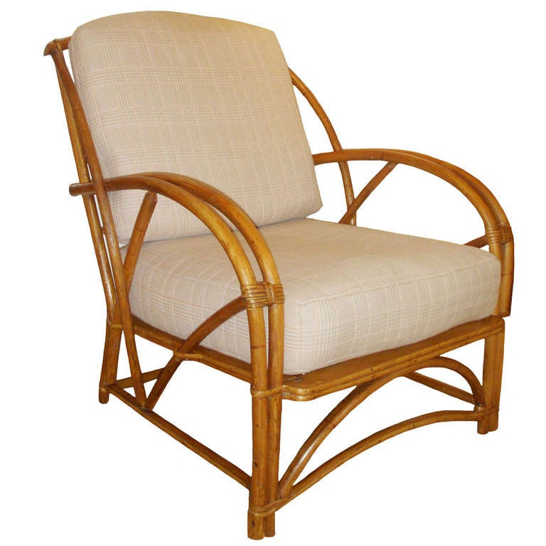 Bamboo Chair With Arms: 1930's American Bamboo Arm Chair At 1stdibs