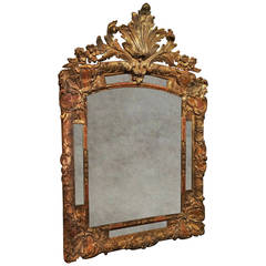 Early 18th Century Regence Gilt Mirror